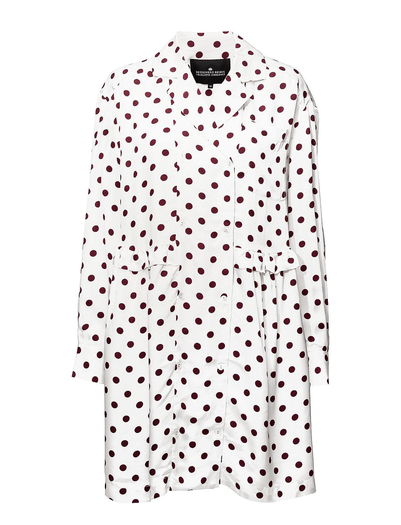 62416f94039 Designers Remix korte kjoler – Kevin Ruffle Dress til dame i DOTS ...