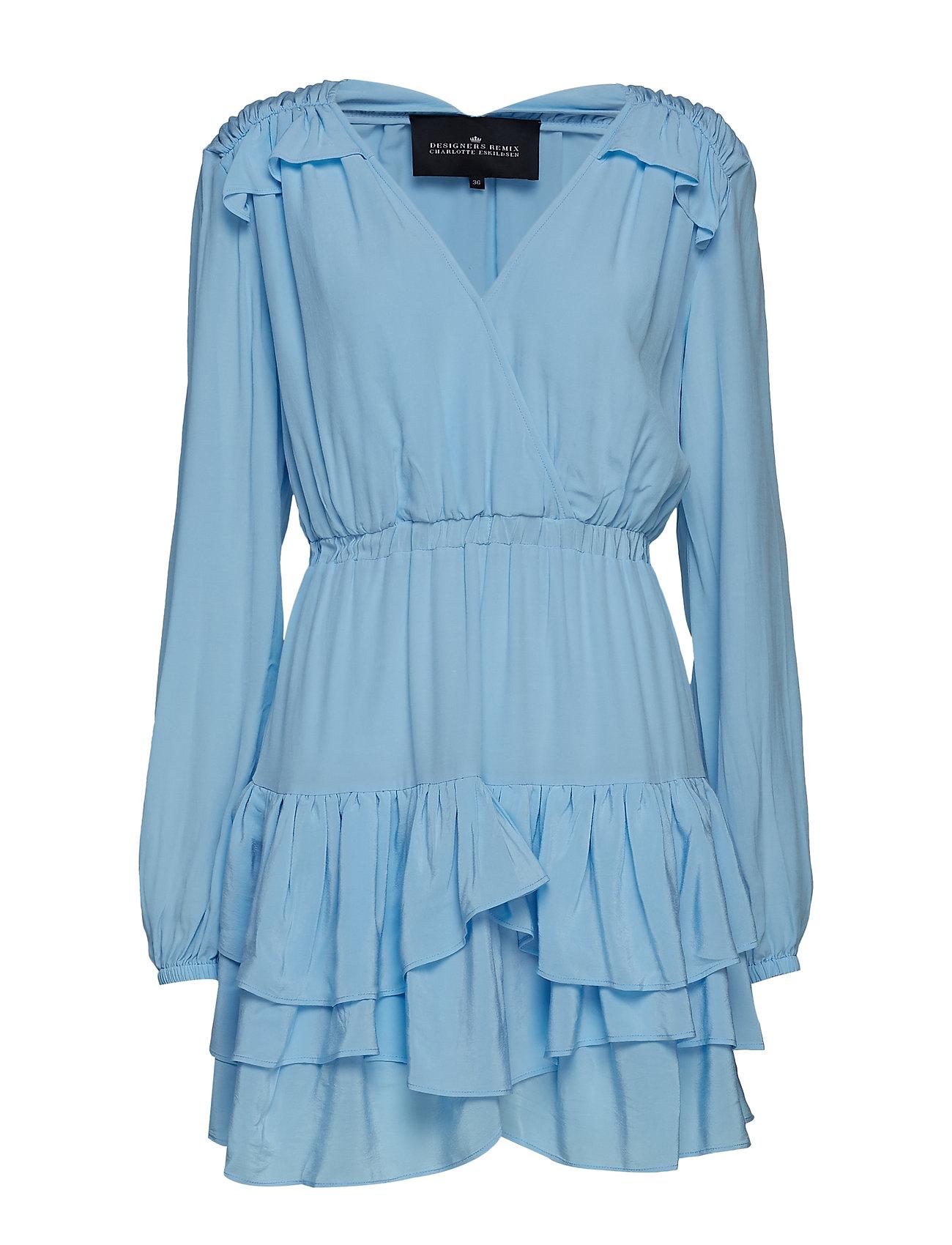 DESIGNERS, REMIX Nini Ruffle Dress - SKY BLUE