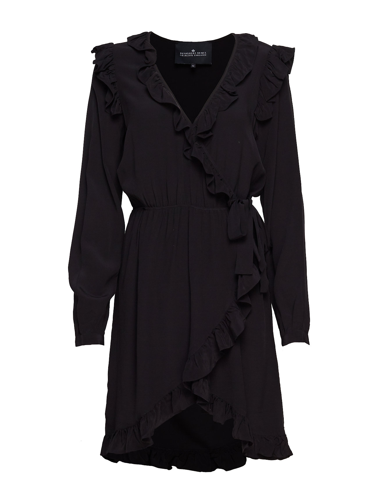 f6ef6fc964a Sort Designers Remix Nini Wrap Dress korte kjoler for dame - Pashion.dk