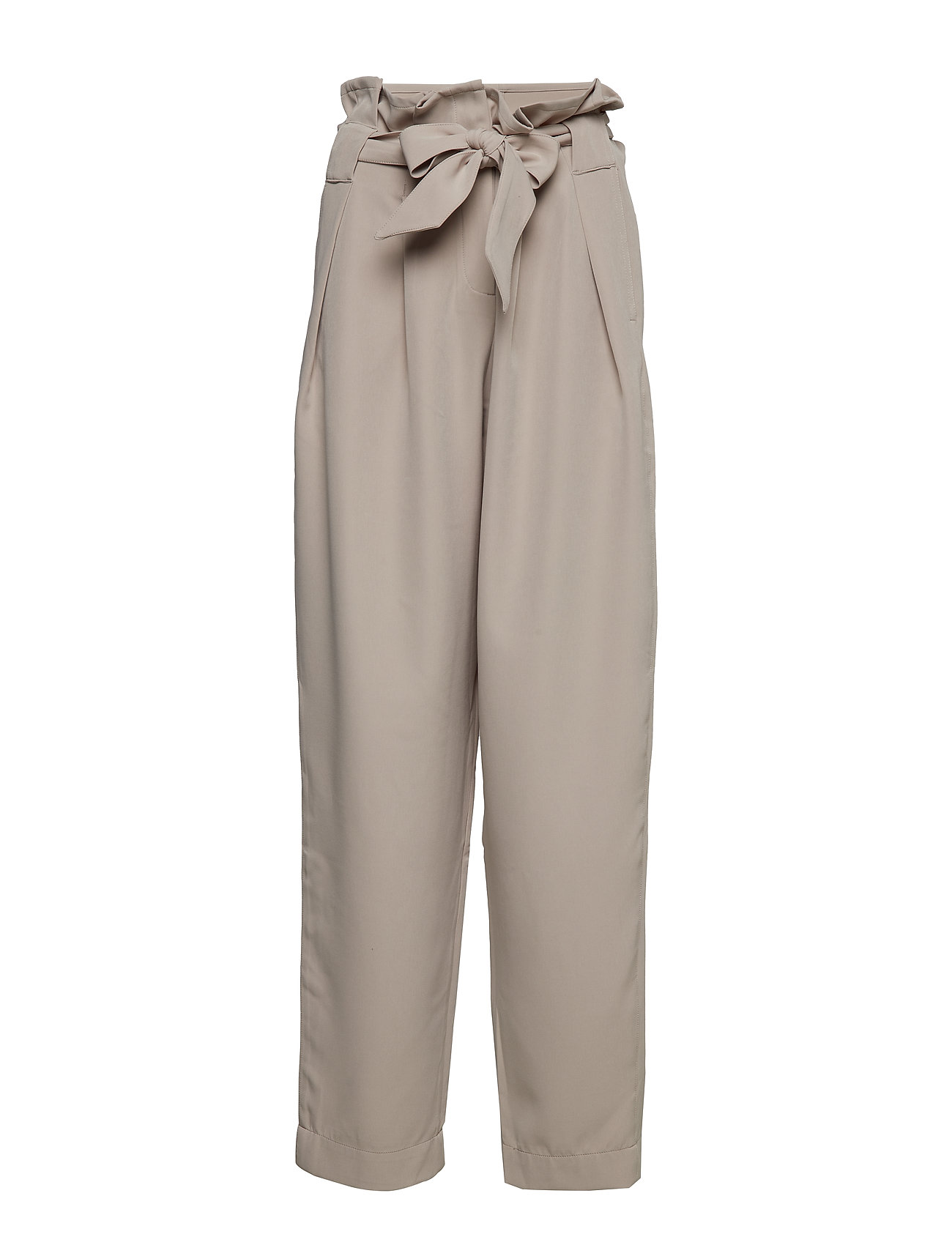 Image of Veronique Pleat Pants Bukser Med Lige Ben Beige DESIGNERS, REMIX (3145473375)