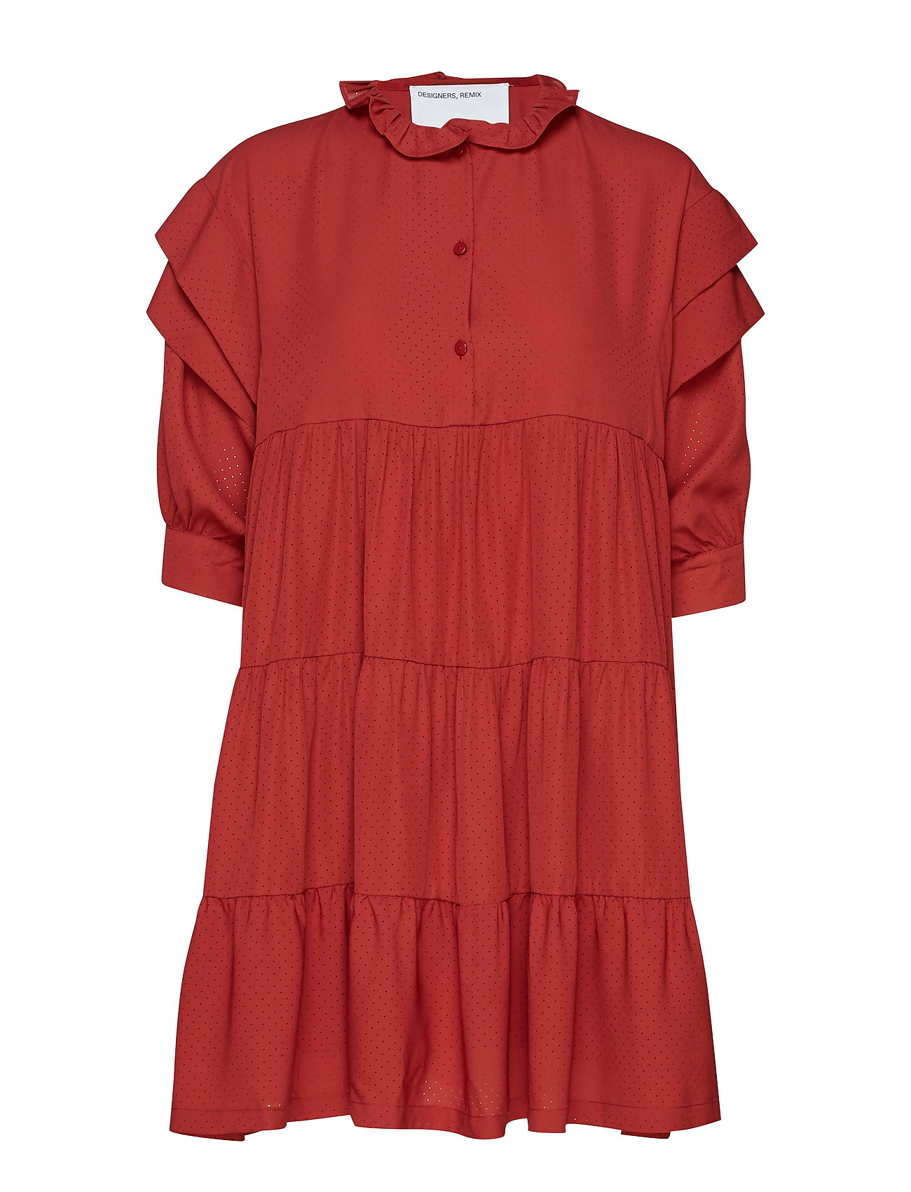 DESIGNERS, REMIX Byron Layered Dress - OX BLOOD
