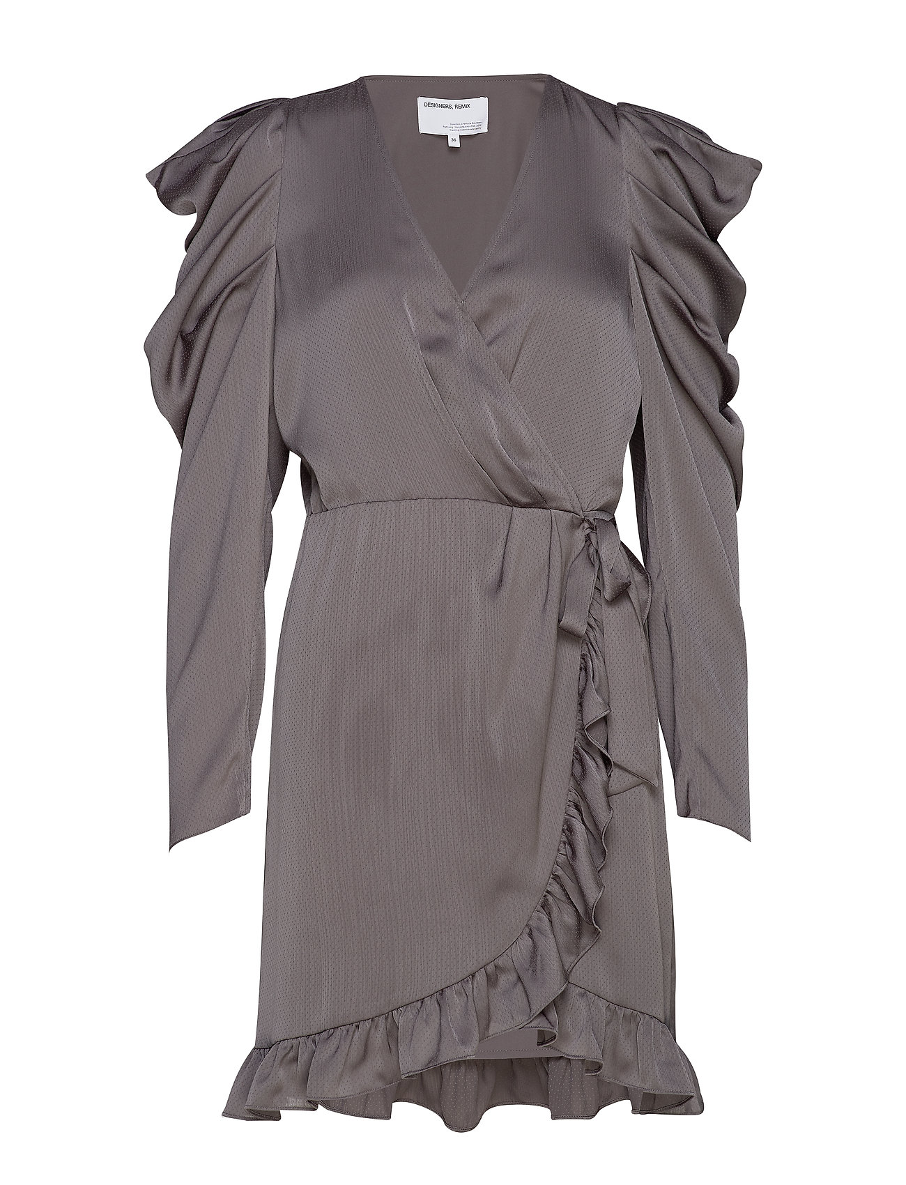 DESIGNERS, REMIX Laura Wrap Dress - DARK GREY