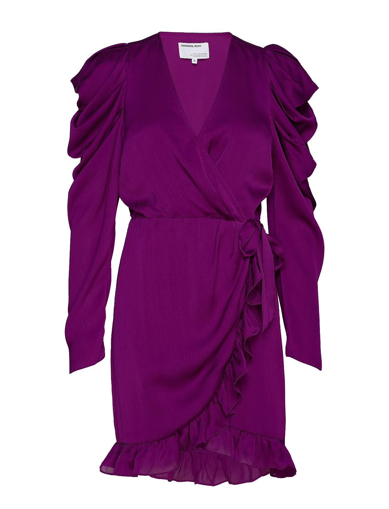 DESIGNERS, REMIX Laura Wrap Dress - FUCSHIA