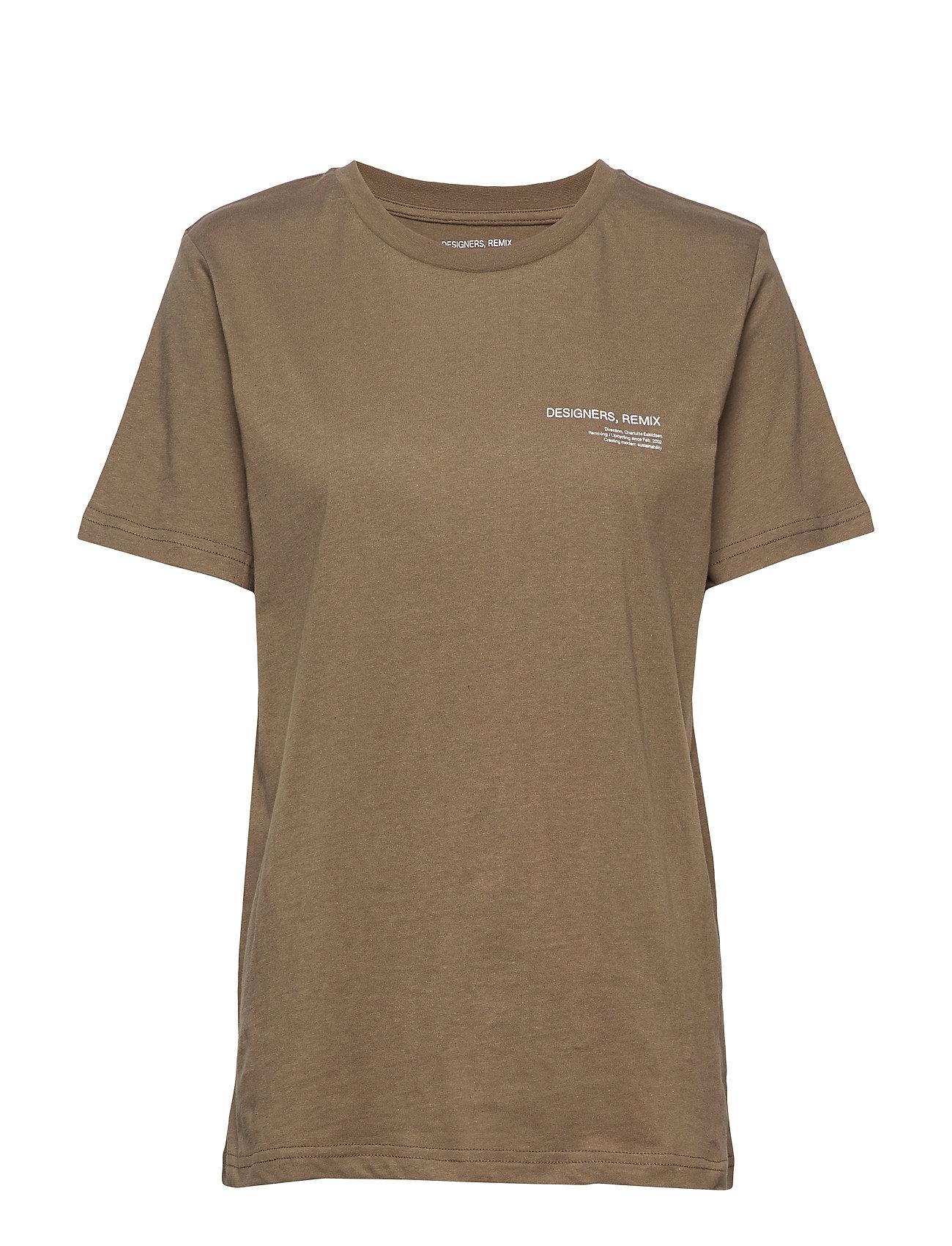Image of Logo Printed Jersey T-Shirt T-shirt Top Brun DESIGNERS, REMIX (3305106269)