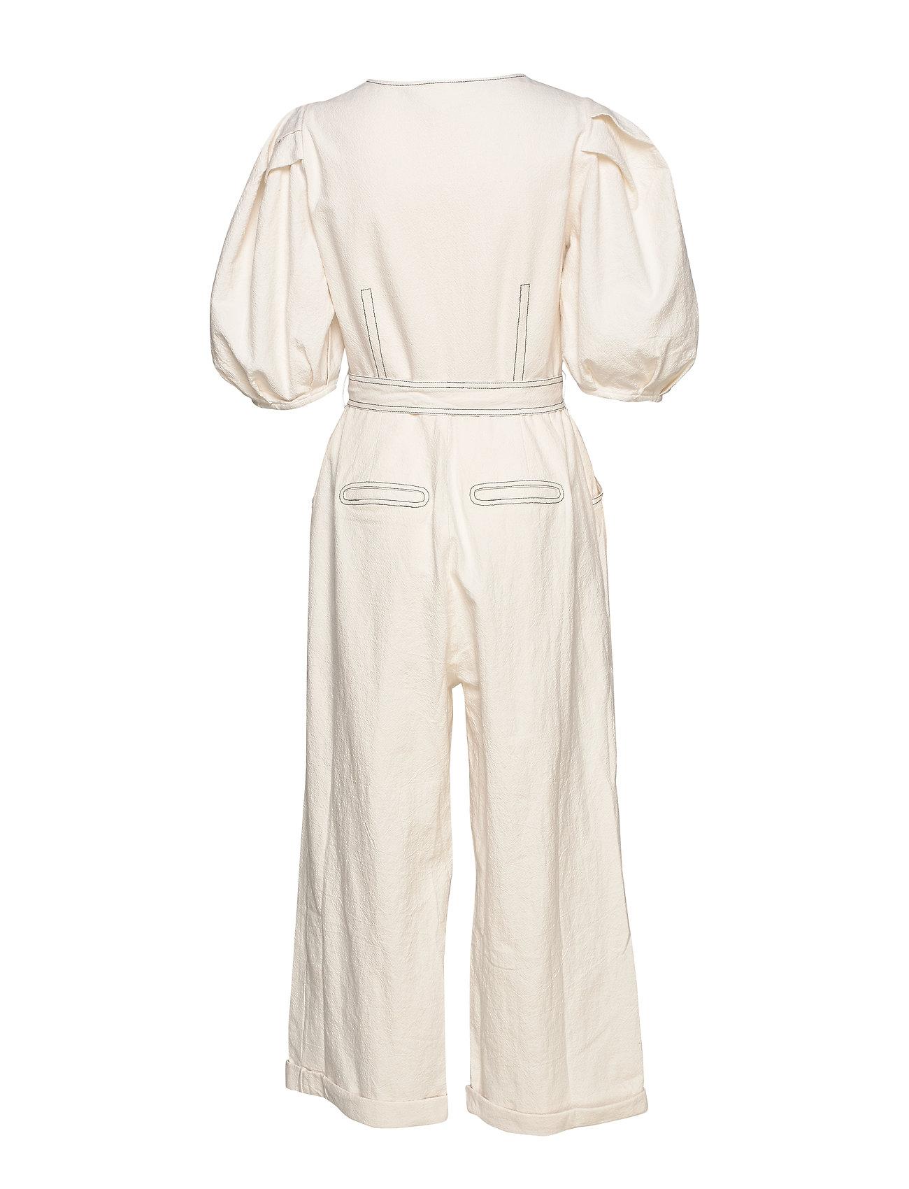 DESIGNERS, REMIX Button-detailed Jumpsuit With Square Neckline (Cream), 1300