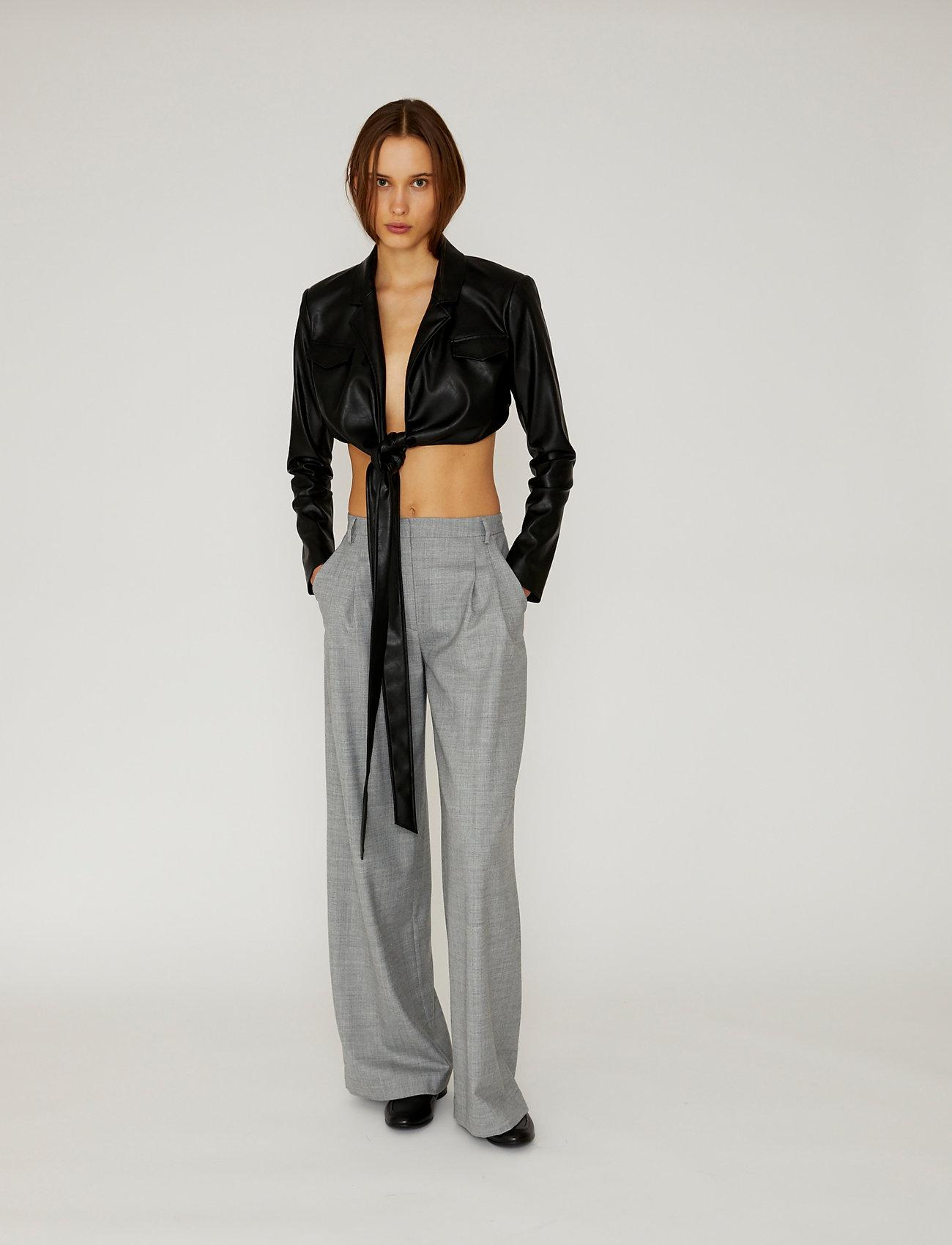 DESIGNERS, REMIX - Marie Wrap Jacket - skinnjackor - black - 0