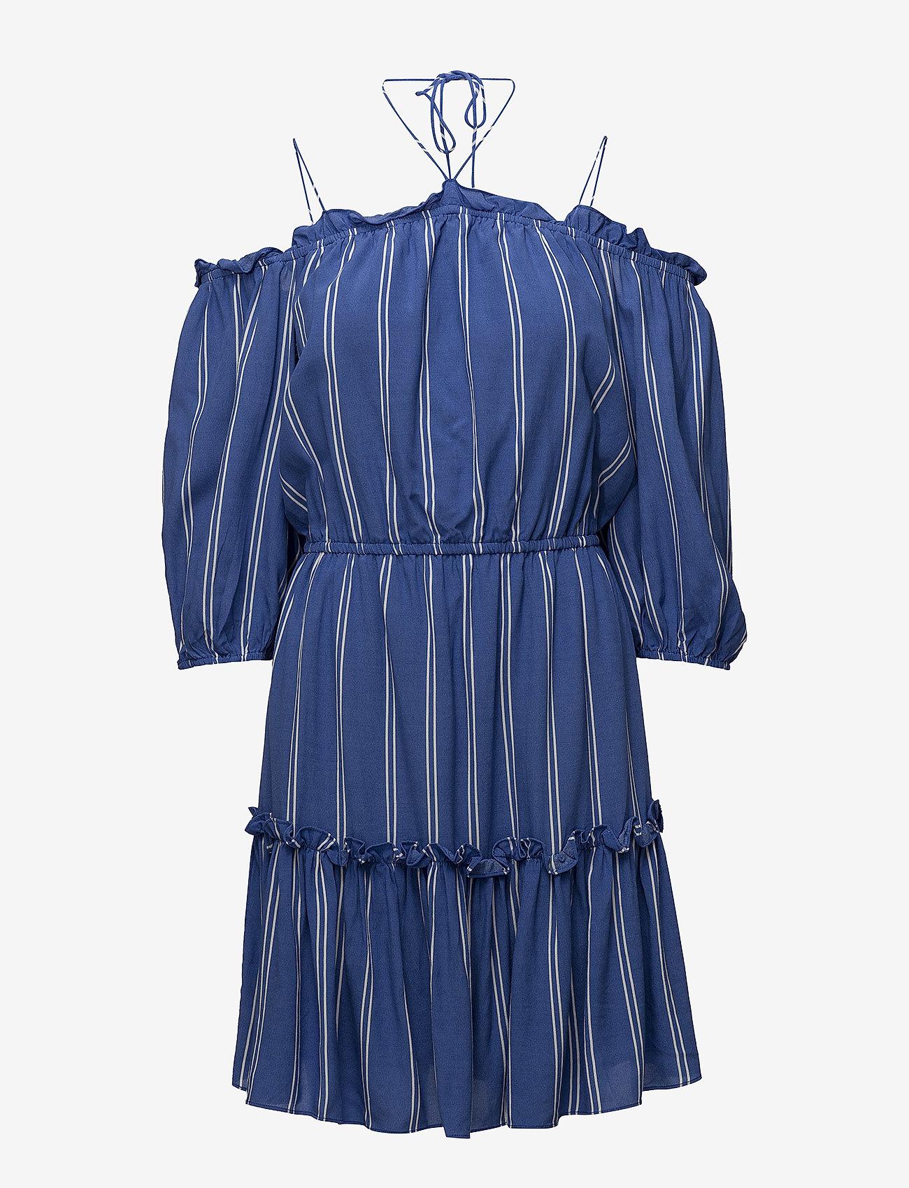 DESIGNERS, REMIX - Viola Off-shoulder - midi kjoler - stripes
