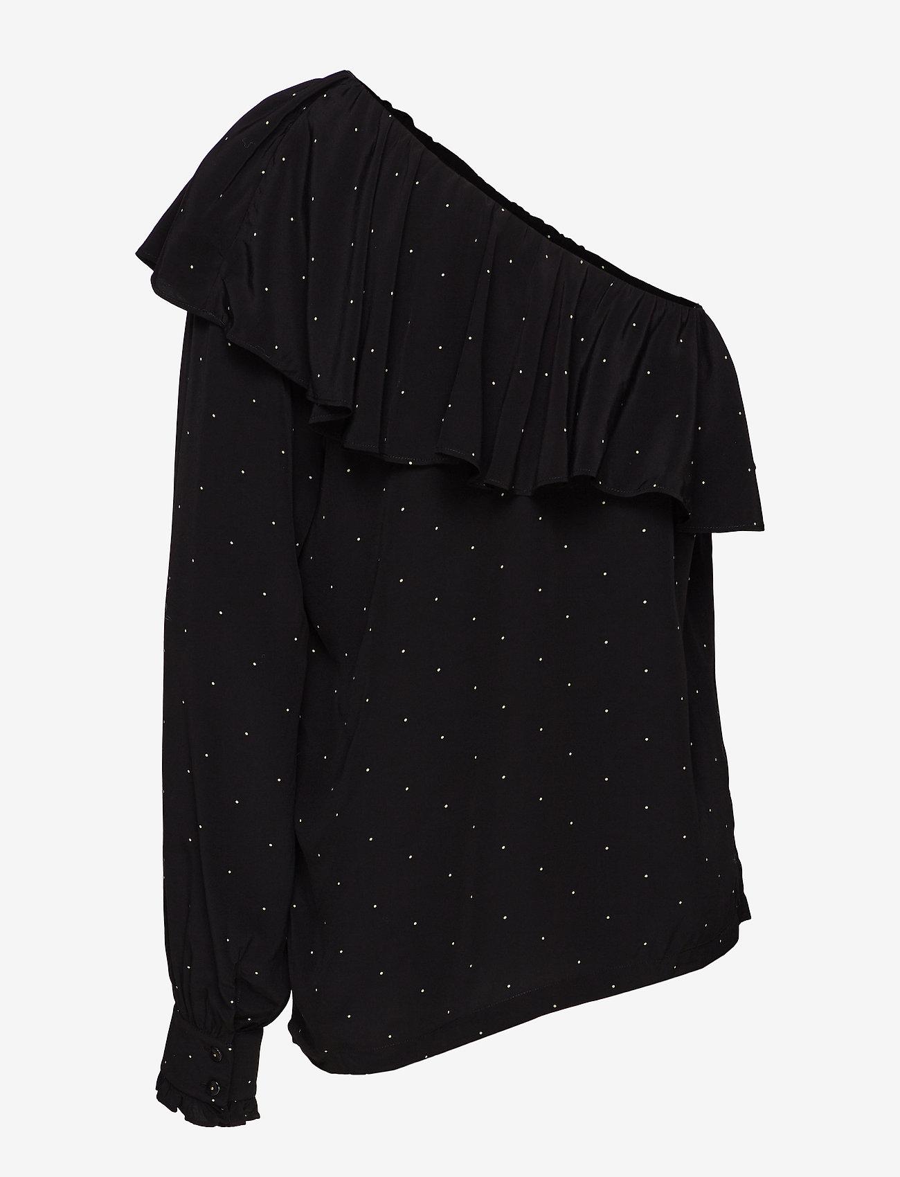 Leana One-shoulder Top (Black/yellow Dot) (666 kr) - DESIGNERS, REMIX