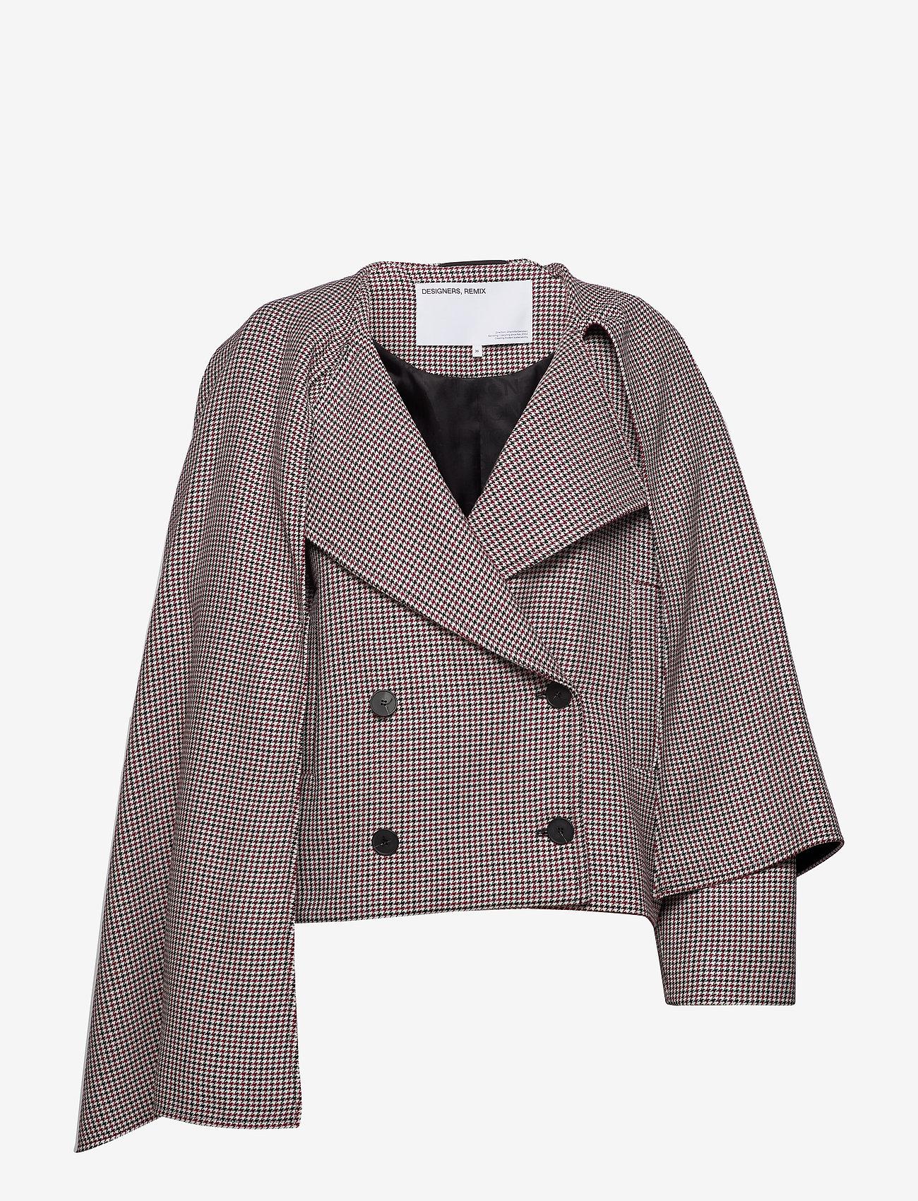 Designers, Remix Debra Short Coat - Jackor & Kappor Check