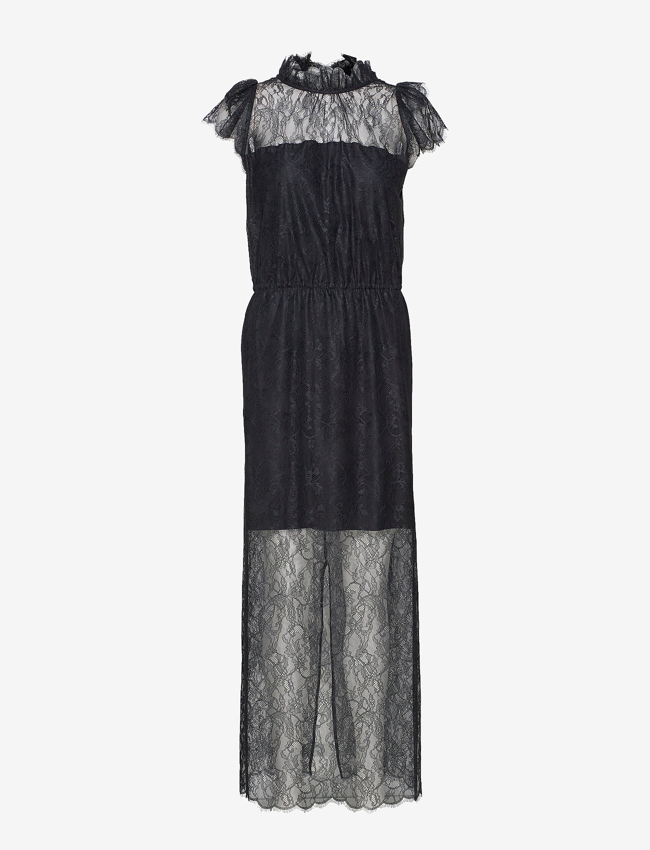 DESIGNERS, REMIX - Long ruffled lace dress - kveldskjoler - black - 0