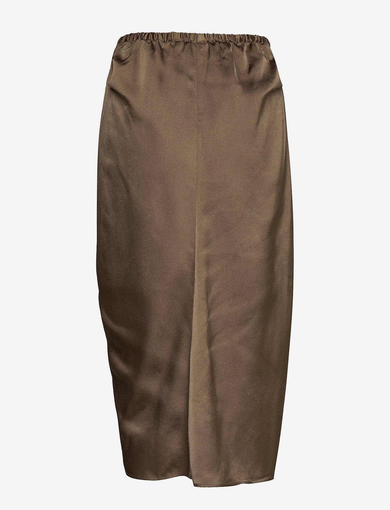 DESIGNERS, REMIX - Ruched pencil skirt - midi - khaki - 1