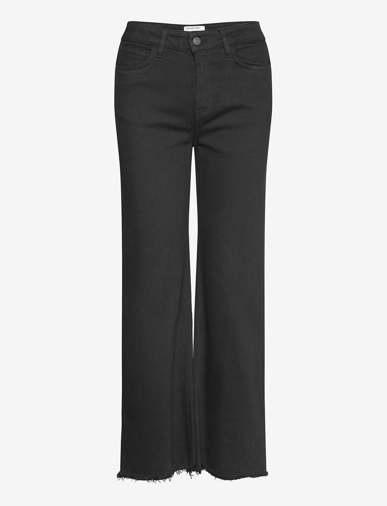 DESIGNERS, REMIX - High-rise straight-leg cropped jeans - straight regular - black - 0