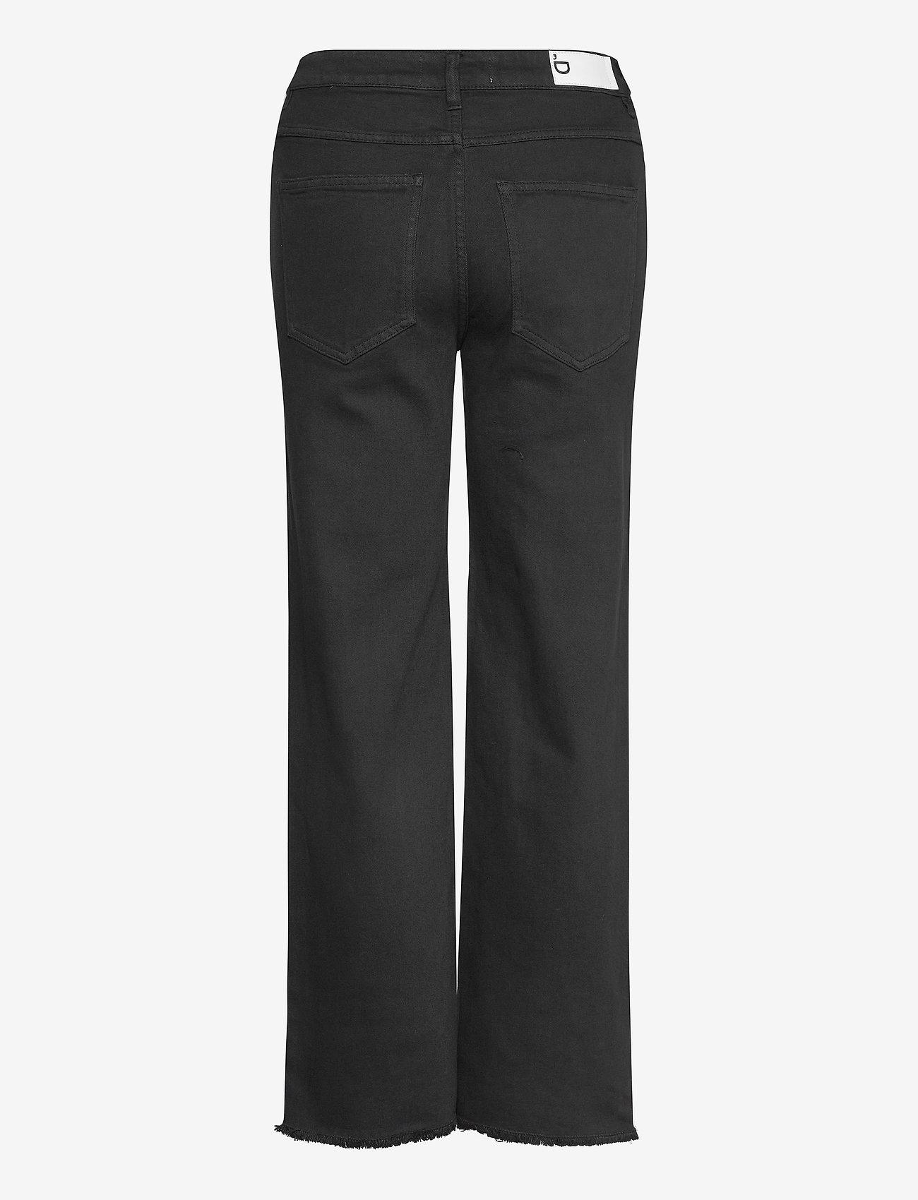 DESIGNERS, REMIX - High-rise straight-leg cropped jeans - straight regular - black - 1
