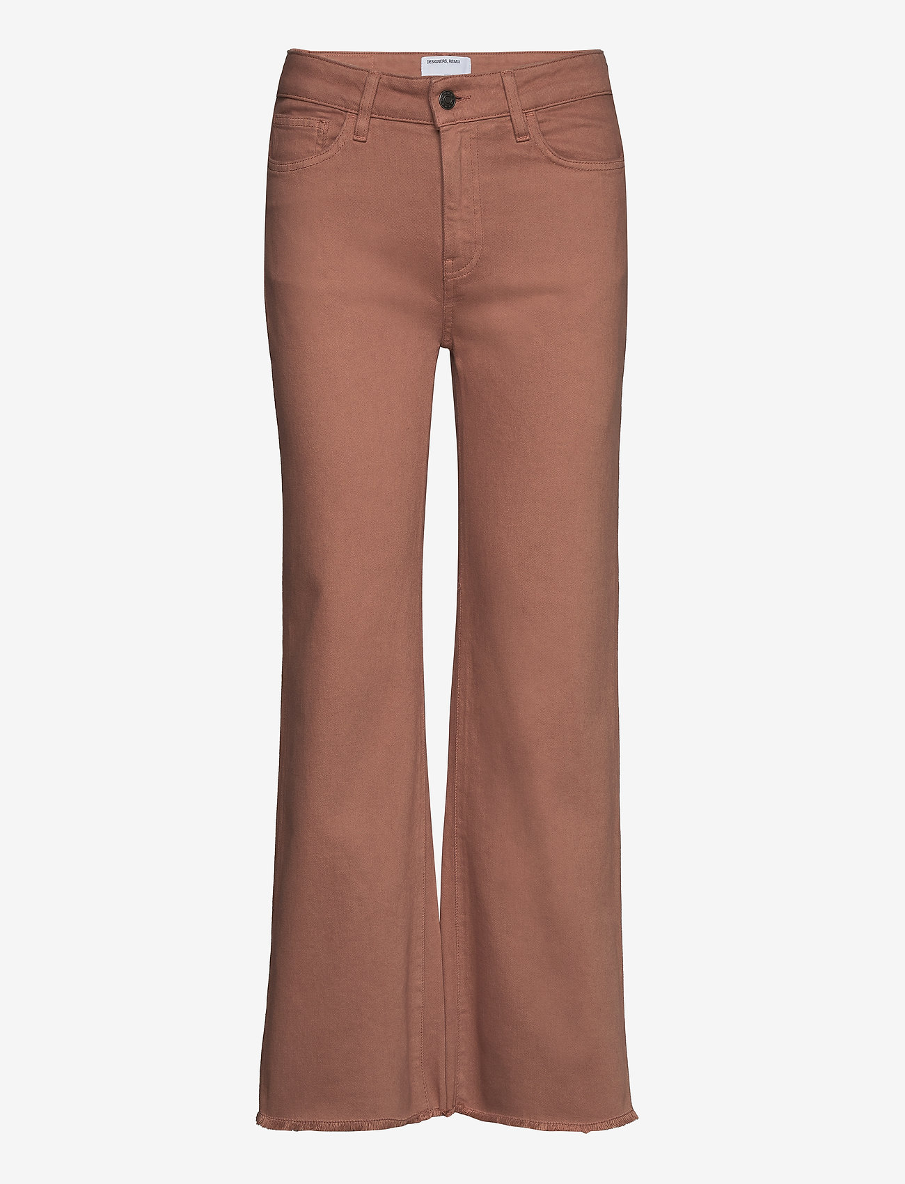 DESIGNERS, REMIX - High-rise straight-leg cropped jeans - straight regular - brown - 0