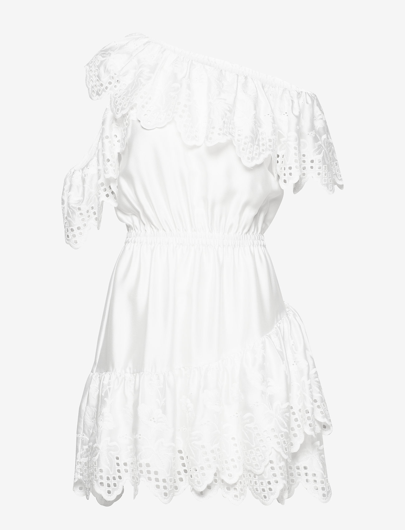 DESIGNERS, REMIX - Asymmetric broderie anglaise dress - blondekjoler - white - 0