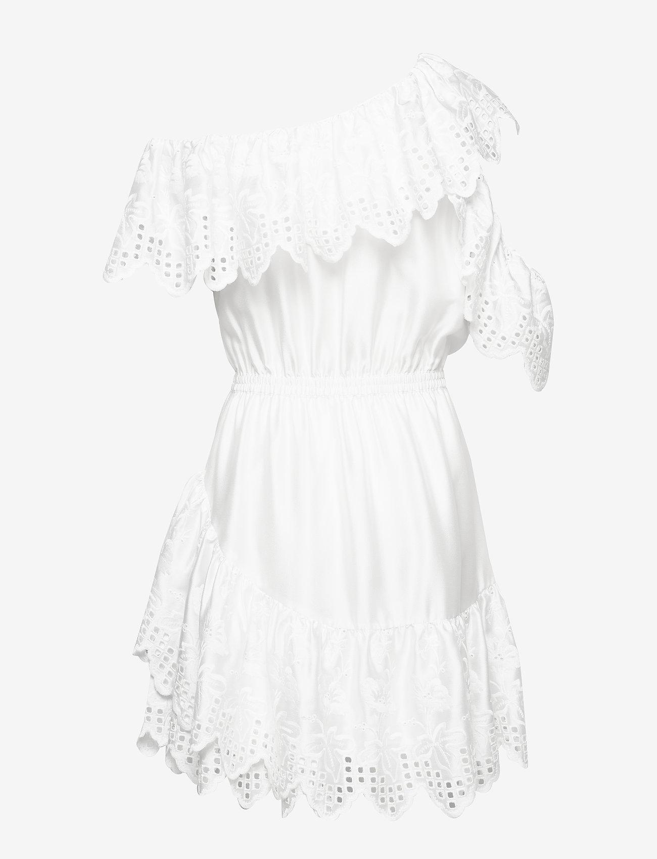 DESIGNERS, REMIX - Asymmetric broderie anglaise dress - blondekjoler - white - 1