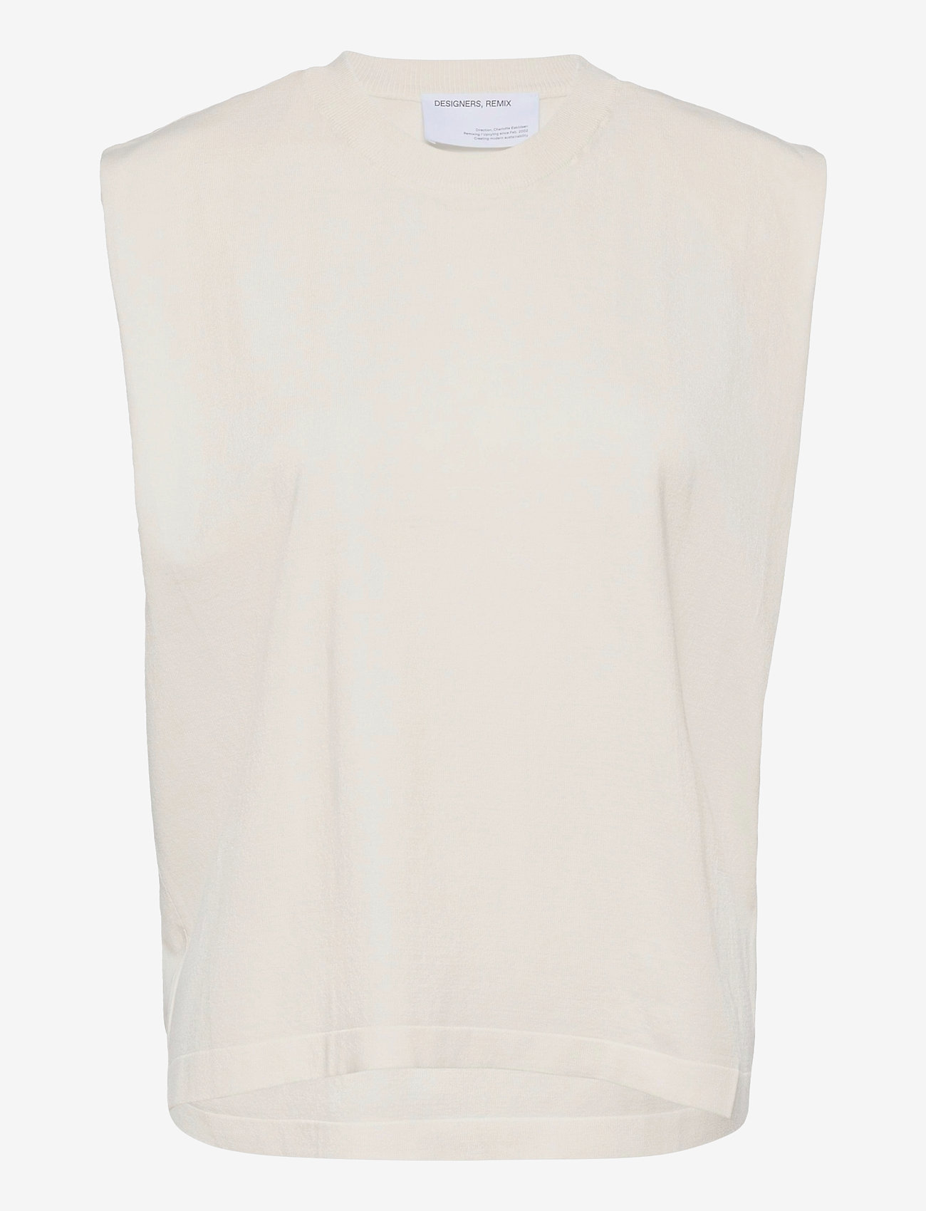 DESIGNERS, REMIX - Mandy Muscle Tee - strikkede toppe - cream - 1