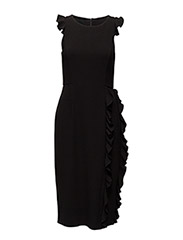 Georgia Curl Dress - BLACK