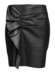 Erin Ruffle Pencil LB - BLACK