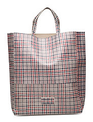 Gigi Large Tote Bag - CHECK