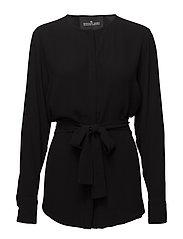 Kate Wrap Shirt - BLACK