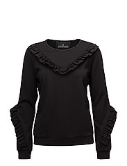 Sandie Ruffle Blouse - BLACK