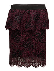 Veronica Skirt - BURGUNDY