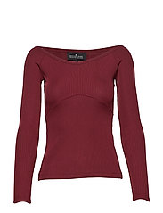 Melody Off-shoulder - BURGUNDY