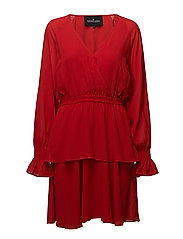 Lea Wrap Dress - LIPSTICK RED
