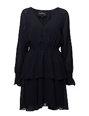 Lea Wrap Dress - NAVY