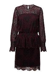 Veronica Dress - BURGUNDY