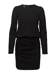 Sandie Ruched Dress - BLACK