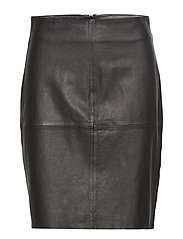 Erin Straight Skirt LB - BLACK