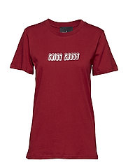 Stanley Check Tee - DARK RED