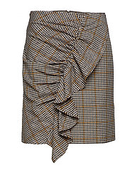 Babette Skirt - YELLOW/BLACK CHECK