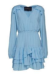 Nini Ruffle Dress - SKY BLUE