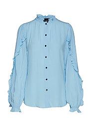 Nini Ruffle Shirt - SKY BLUE