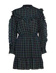 Saga Ruffle Dress - MULTICOLOUR CHECK