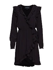 Nini Wrap Dress - BLACK