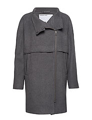 DESIGNERS, REMIX Hardy Long Coat - DARK GREY MELANGE