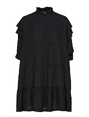 Byron Layered Dress - BLACK
