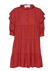 Byron Layered Dress - OX BLOOD