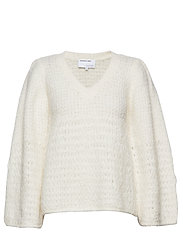 DESIGNERS, REMIX Caress V-neck Sweater - CREAM