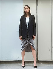 DESIGNERS, REMIX - Ruched pencil skirt - midi - grey - 0