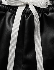DESIGNERS, REMIX - Leather free leather shorts with elasticated waist - skinn shorts - black - 4