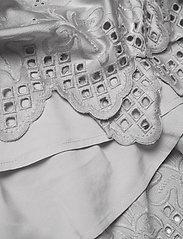DESIGNERS, REMIX - Asymmetric broderie anglaise dress - blondekjoler - light grey - 4