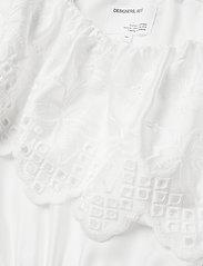 DESIGNERS, REMIX - Asymmetric broderie anglaise dress - blondekjoler - white - 3