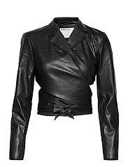 Marie Wrap Jacket - BLACK