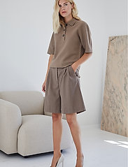 DESIGNERS, REMIX - Lucca Knit Blouse - strikkede toppe - taupe - 3