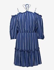 DESIGNERS, REMIX - Viola Off-shoulder - midi kjoler - stripes - 0